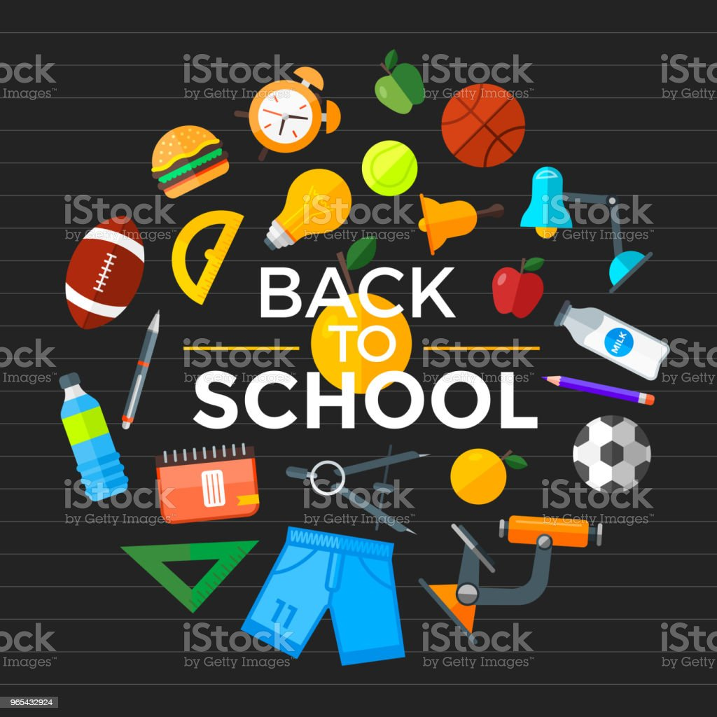 Vector back to school icons set. Education object in flat style. royalty-free vector back to school icons set education object in flat style stock vector art & more images of back