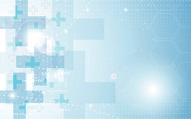 vector background abstract health care concept medical; hexagon; health care; science; sci; concept; medicine; logo; dna; structure; molecular; molecule; hospital; clinic; abstract; background; vector; illustration; blue; web; doctor; rectangle; pattern; overlap; modern; arrow, technology; tech; innovation; hi tech; drug; cure; sick; frame; pharmacy; gradient; electric; flare; star; spark; patient; banner; design; digital; atom; graphic; theme; template; space; composition; halftone; hospital background stock illustrations