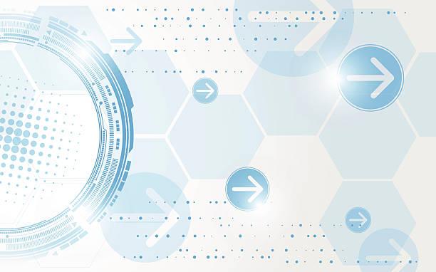 Vektor Hintergrund abstrakte Technologie und Kommunikation – Vektorgrafik
