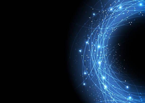 vector background abstract technology fiber technology communication  internet and data fiber optic stock illustrations