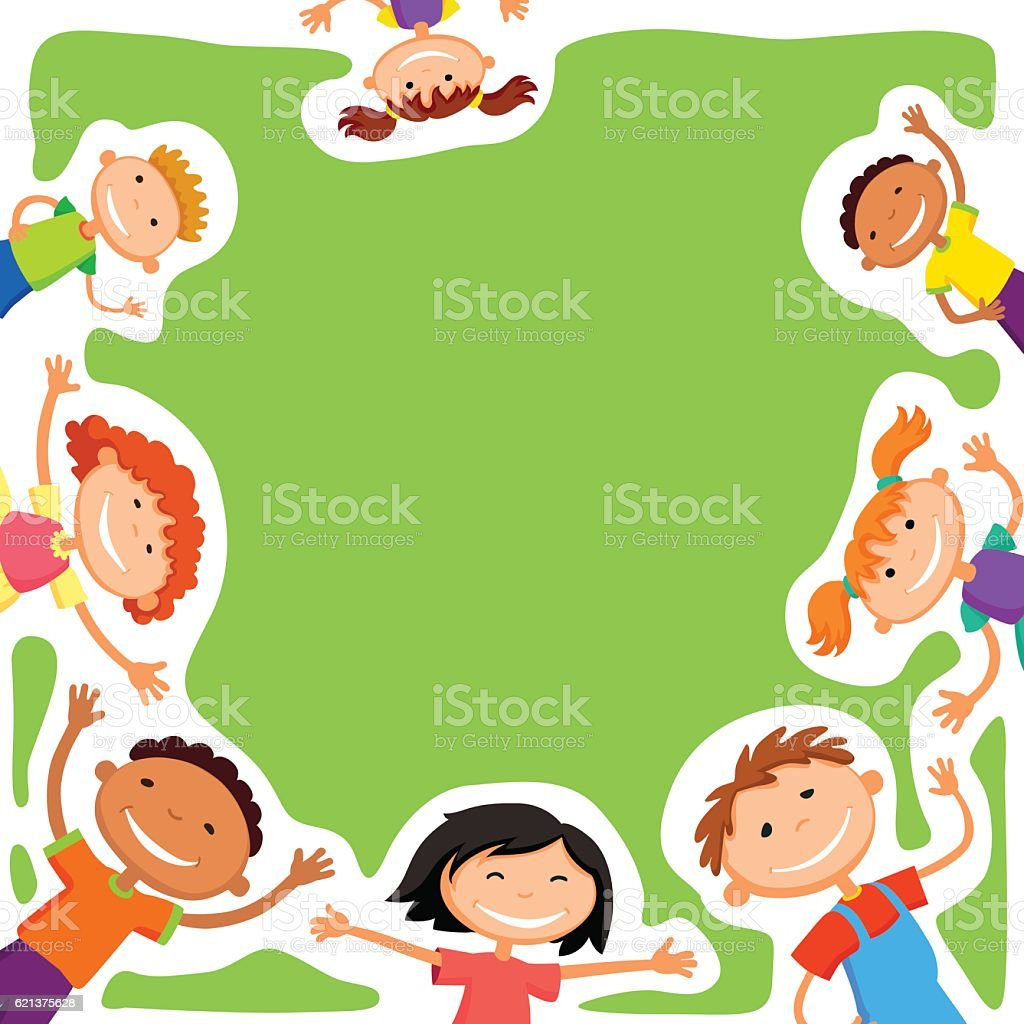 Vector Background Blank With Kids Summer Camp Royalty Free