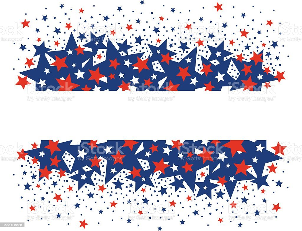 Vector background design for 4th of july american independence day vector art illustration