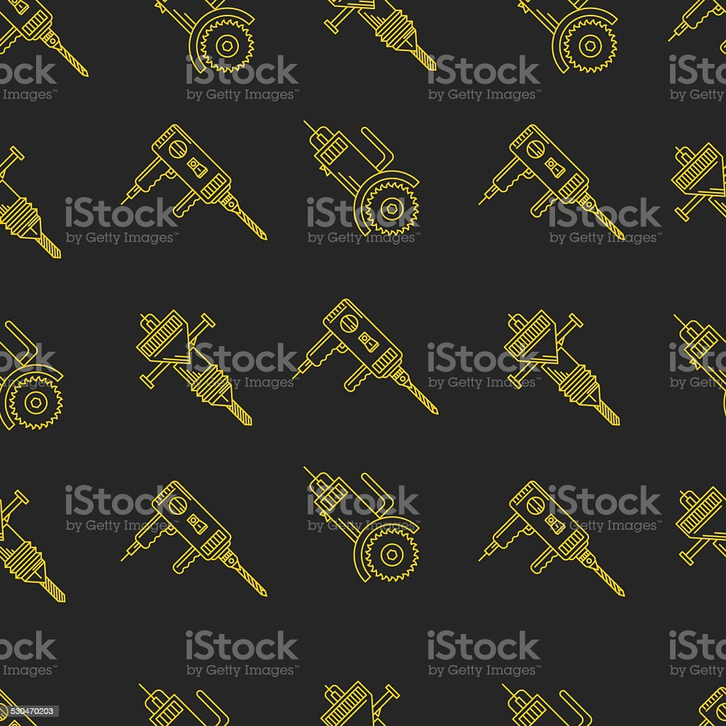 Vector background for construction tools vector art illustration