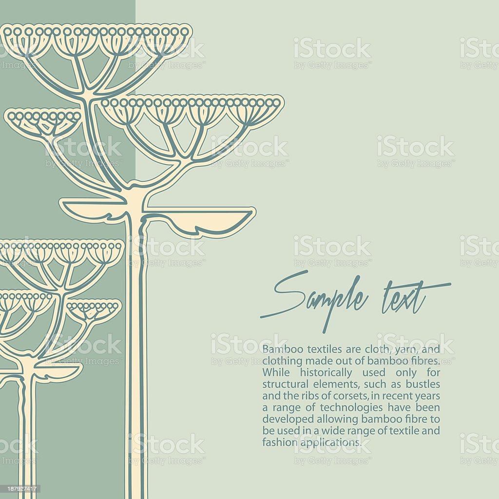 Vector background from fennel flower branch royalty-free stock vector art