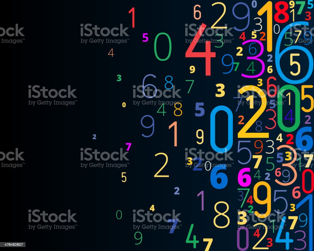 Vector background from numbers vector art illustration