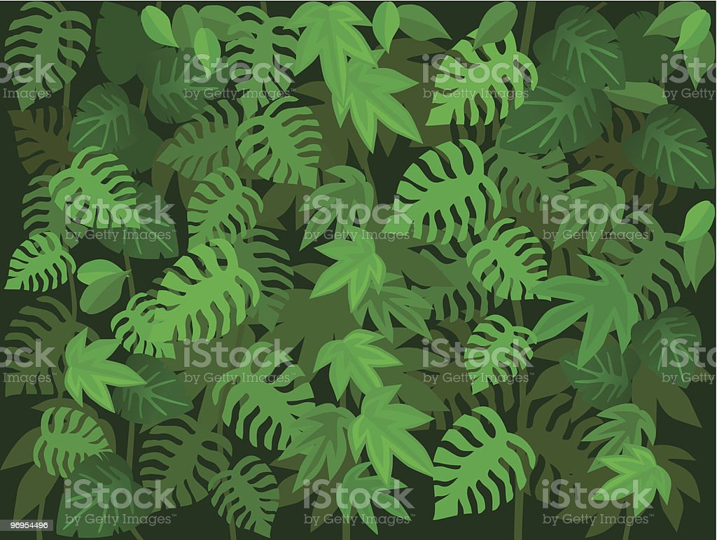 Vector background image design of green forest leaves royalty-free vector background image design of green forest leaves stock vector art & more images of backgrounds