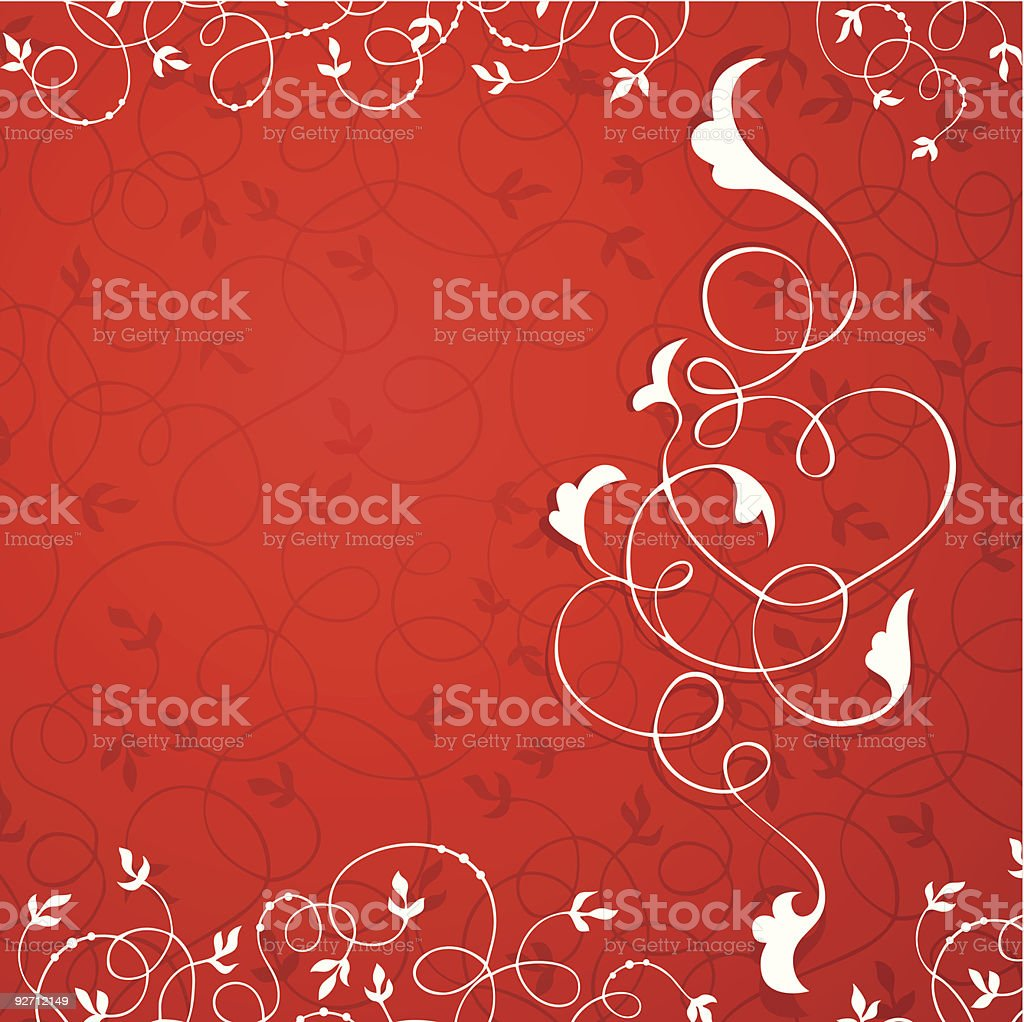 vector background in red royalty-free stock vector art