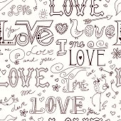 vector background love valentines day doodle