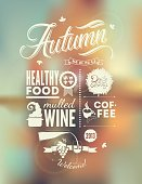 A vector background of a menu poster