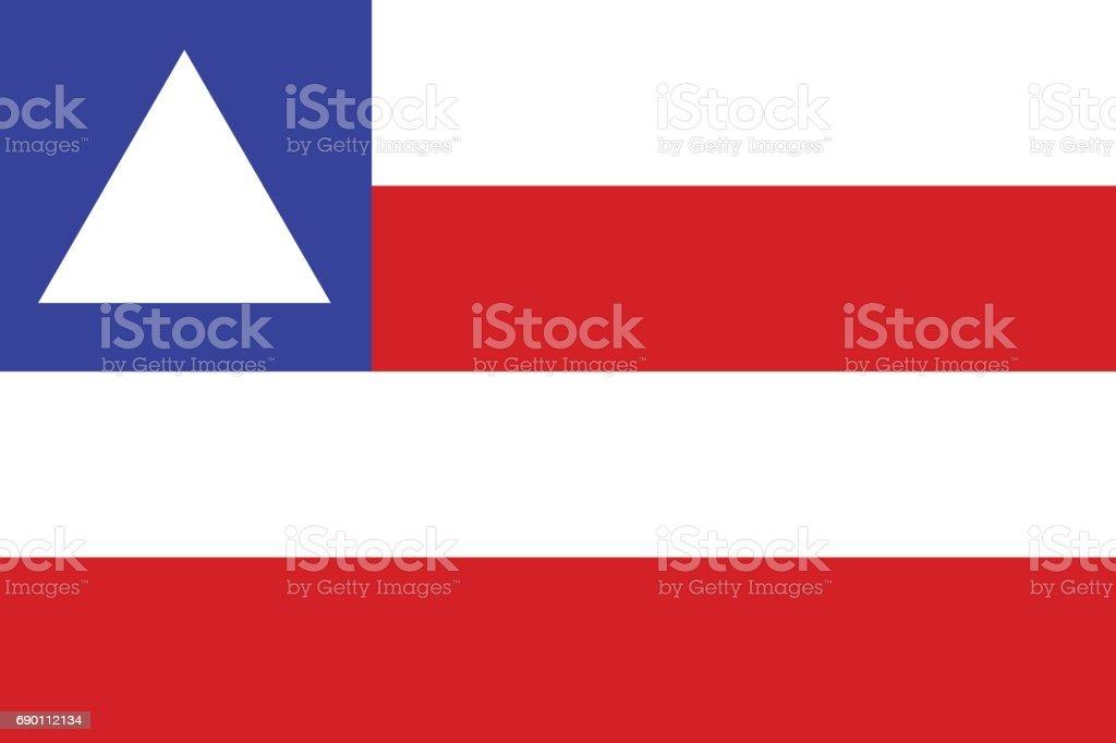 fundo de vetor da bandeira do estado de bahia - ilustração de arte em vetor