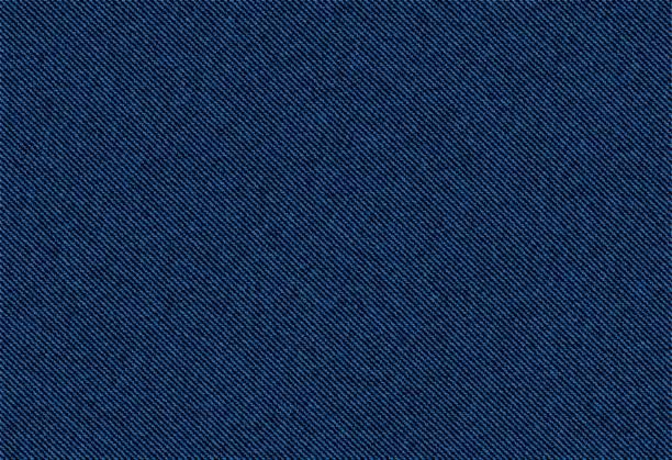 stockillustraties, clipart, cartoons en iconen met vector achtergrond van blauwe jeans denim textuur - textiel