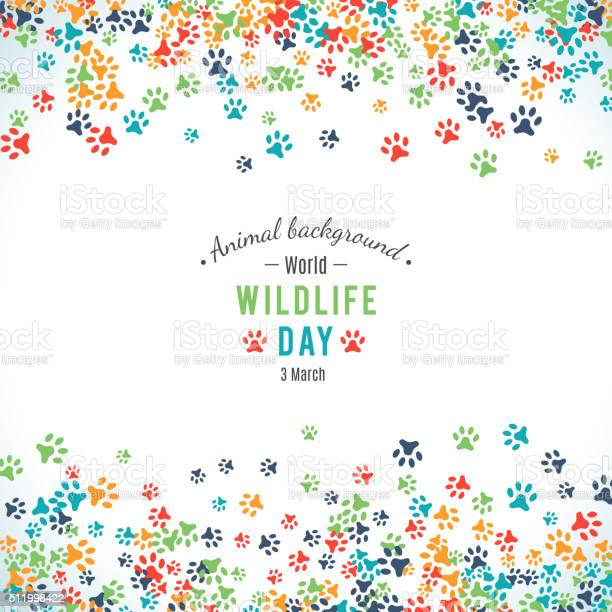 Vector background of world wildlife day vector id511998422?b=1&k=6&m=511998422&s=612x612&h=sylrd7 ryxruj4n y eor sysgmzu0pif574s 7fmc0=
