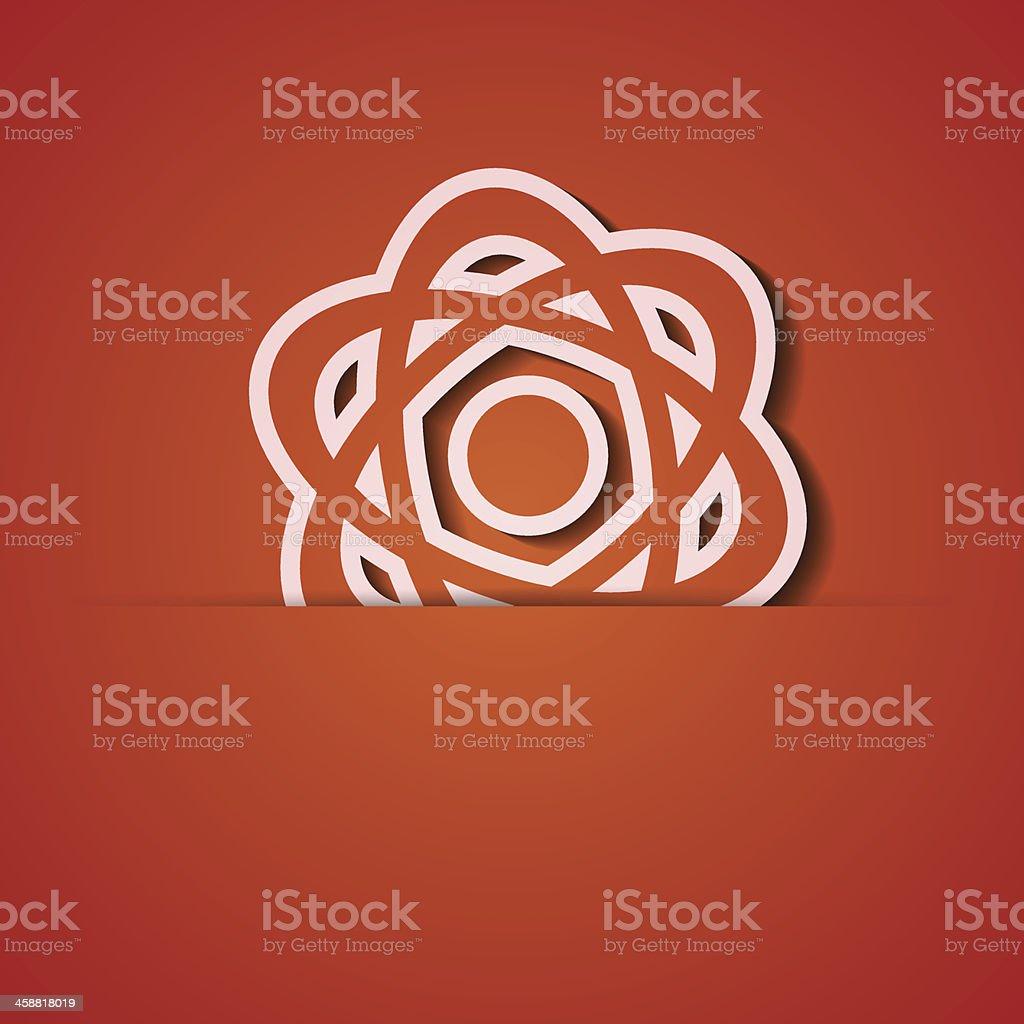 Vector background. Orange icon applique. Eps10 royalty-free stock vector art