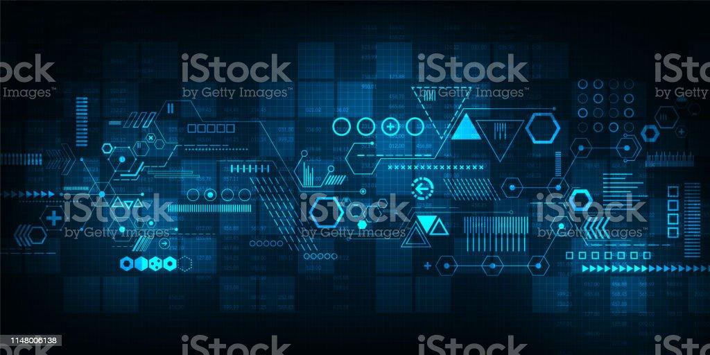 Tecnologia do fundo do vetor no conceito de digital. - Vetor de Abstrato royalty-free