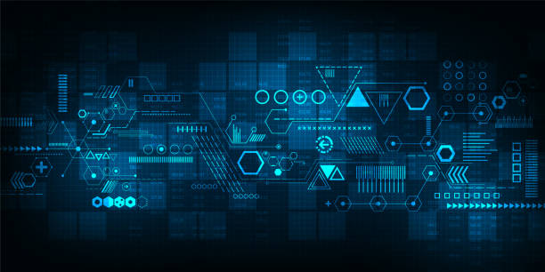 Vector background technology in the concept of digital. Vector abstract background shows the innovation of technology and technology concepts. information technology stock illustrations