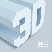 3D. Vector background.