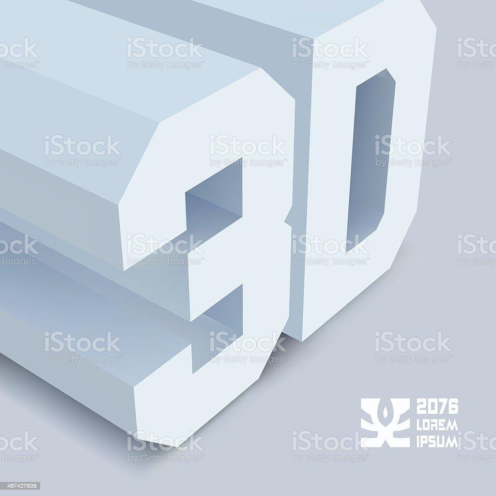 3 D. vecteur de fond. - Illustration vectorielle