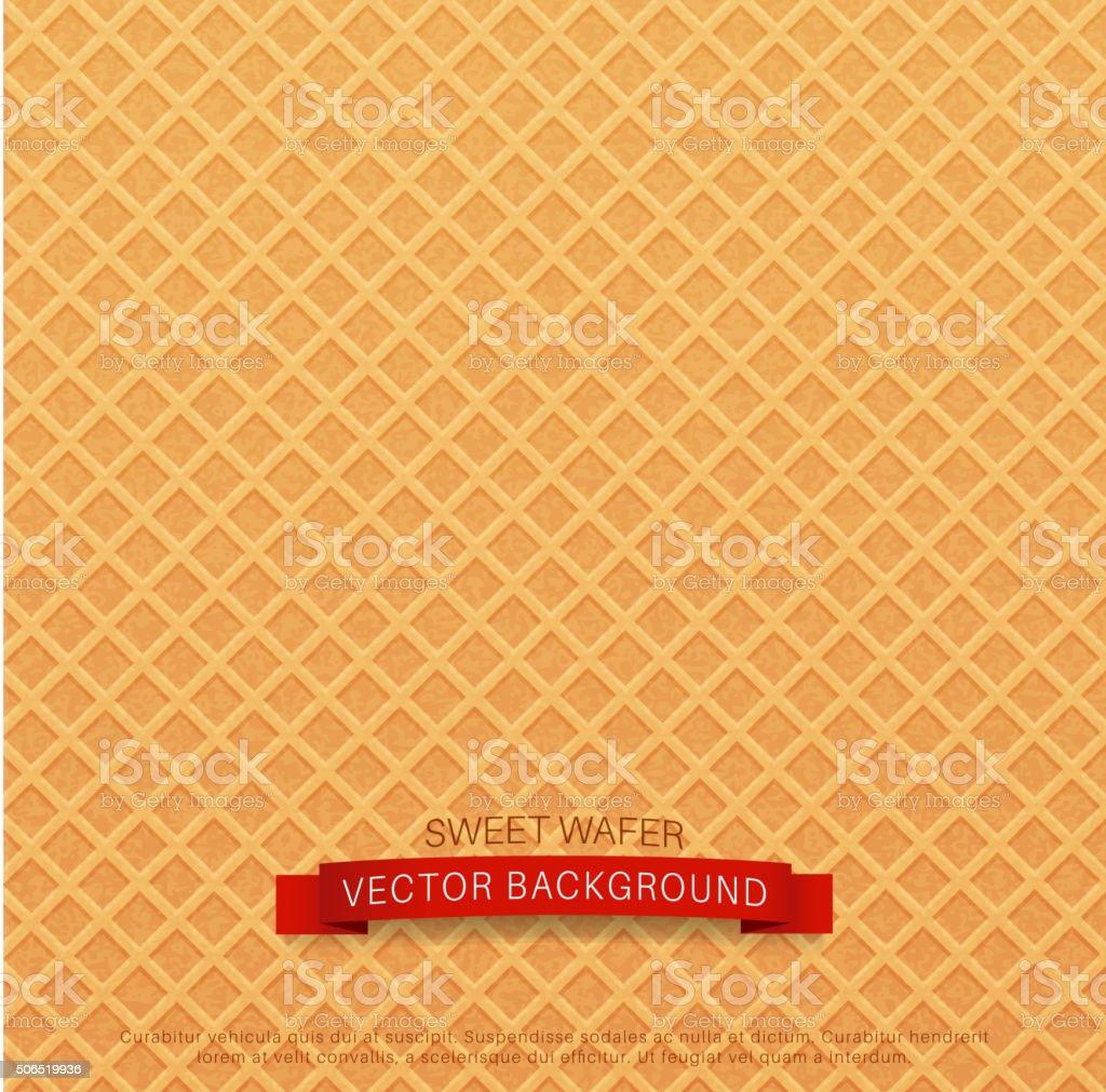 vector background (texture wafer) vector art illustration