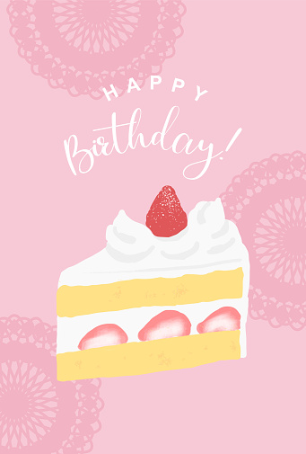 vector background with a strawberry sponge cake for banners, cards, flyers, social media wallpapers, etc.
