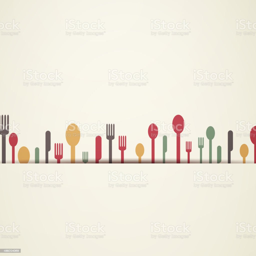 Vector Background with Abstract Cutlery vector art illustration