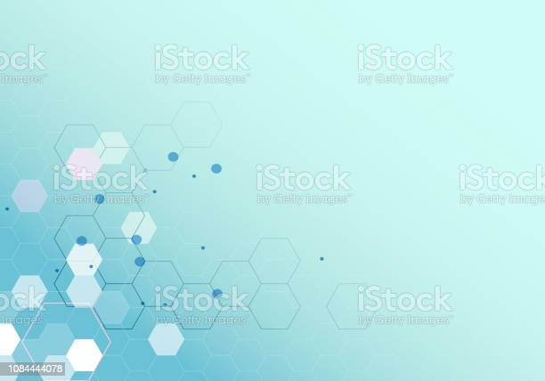 Vector Background With Abstract Molecule Pattern Stock Illustration - Download Image Now
