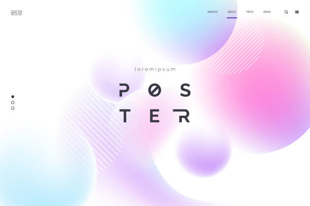 vector background with abstract neon shapes in gradient pastel colors. poster with blurred effect. asymmetric composition. applicable for landing page, invitation, advertisement. eps 10 - miękkość stock illustrations