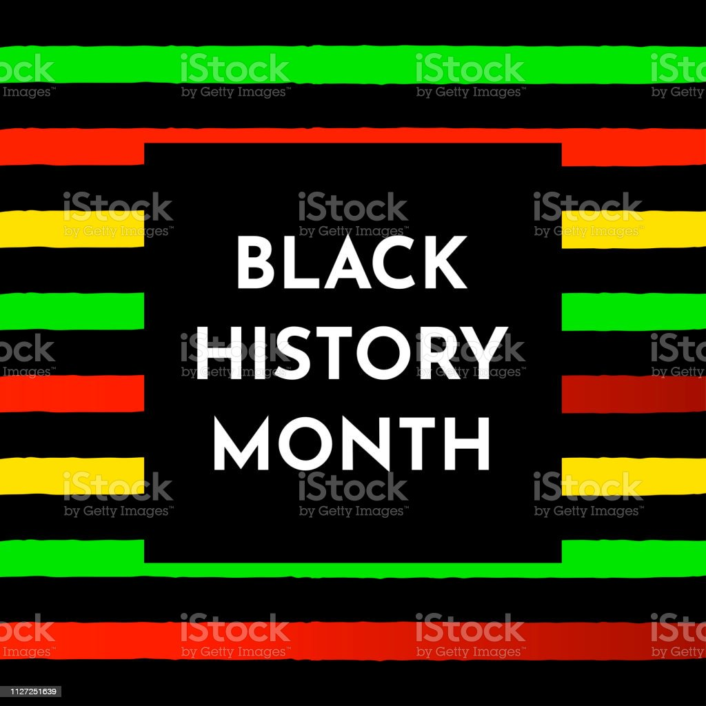 Vector background with black and red, yellow, green stripes. Black history month. vector art illustration