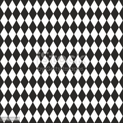 istock Vector background with black and white rhombus 494244508
