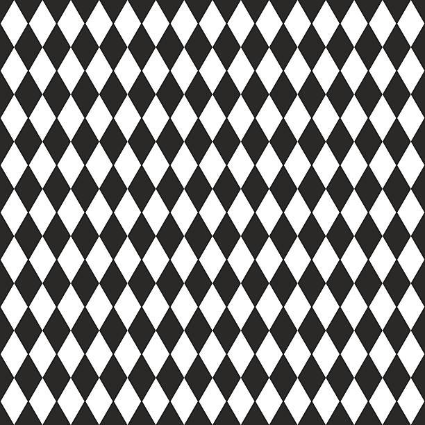 illustrazioni stock, clip art, cartoni animati e icone di tendenza di sfondo vettoriale in bianco e nero rombo - rombo