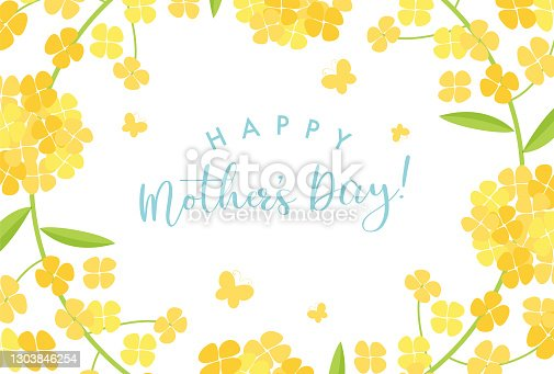 istock vector background with canola flower for banners, cards, flyers, social media wallpapers, etc. 1303846254