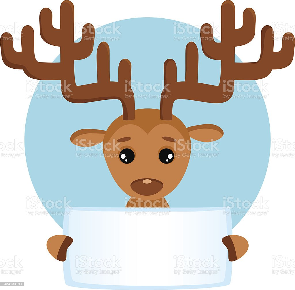Vector background with cute deer vector art illustration