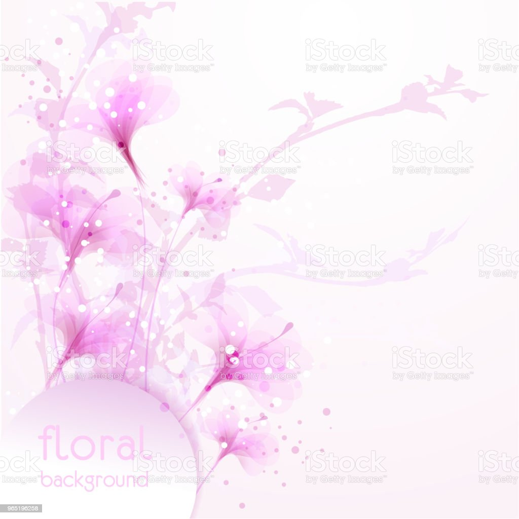 Vector background with flowers royalty-free vector background with flowers stock vector art & more images of abstract