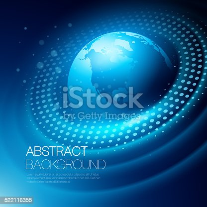 istock Vector background with glowing space orbit 522116355