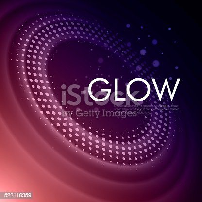istock Vector background with glowing space orbit 522116359