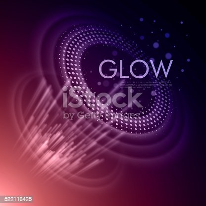 istock Vector background with glowing space orbit 522116425