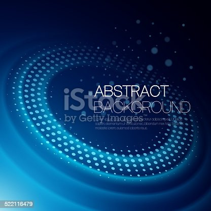 istock Vector background with glowing space orbit 522116479