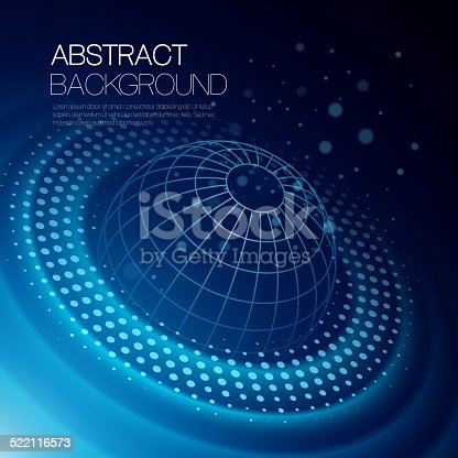 istock Vector background with glowing space orbit 522116573