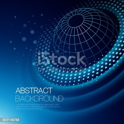 istock Vector background with glowing space orbit 522116733