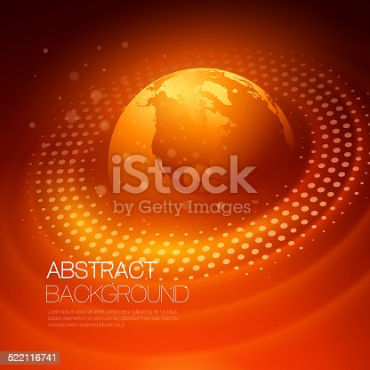 istock Vector background with glowing space orbit 522116741