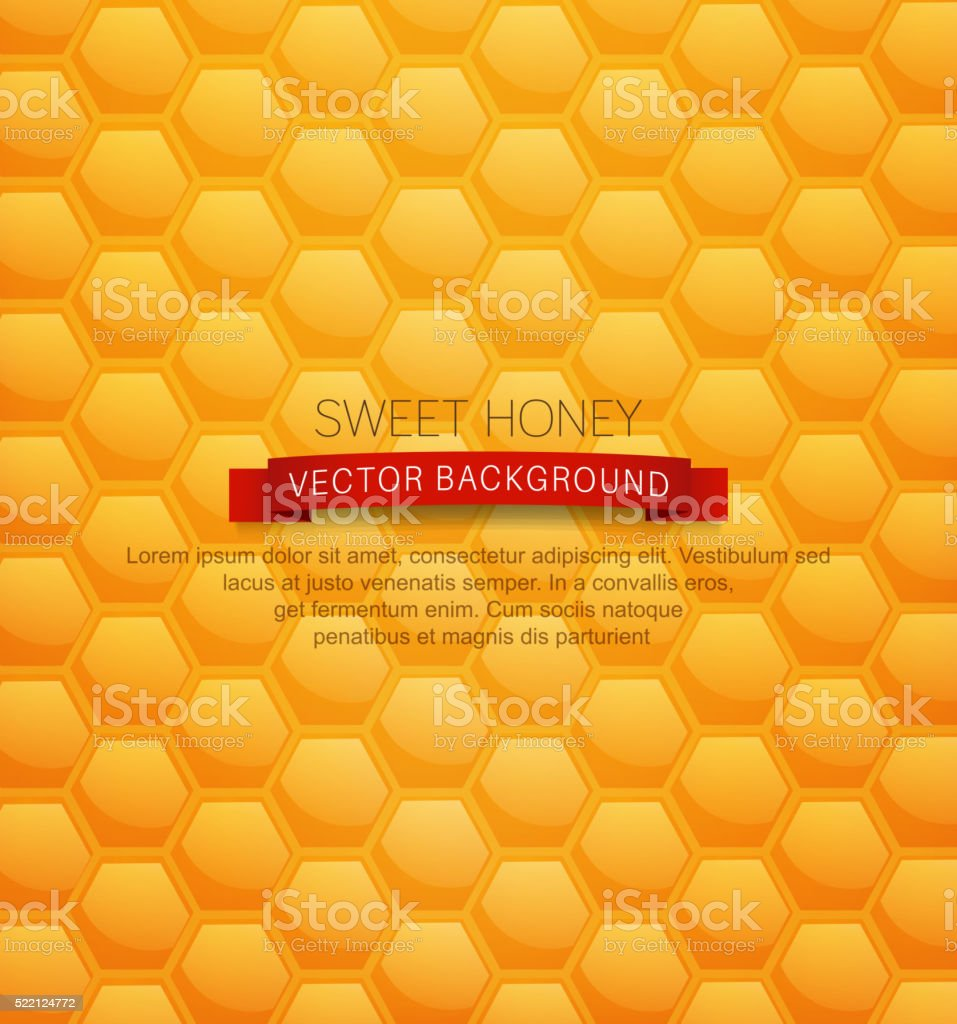 vector background with honeycombs vector art illustration