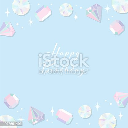istock vector background with jewelry illustrations for banners, cards, flyers, social media wallpapers, etc. 1297691495