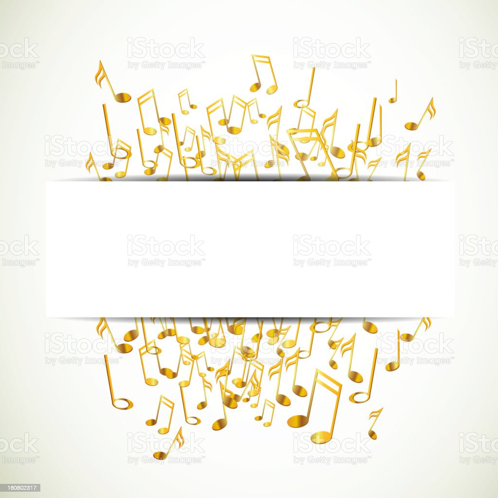 Vector Background with Music notes royalty-free stock vector art