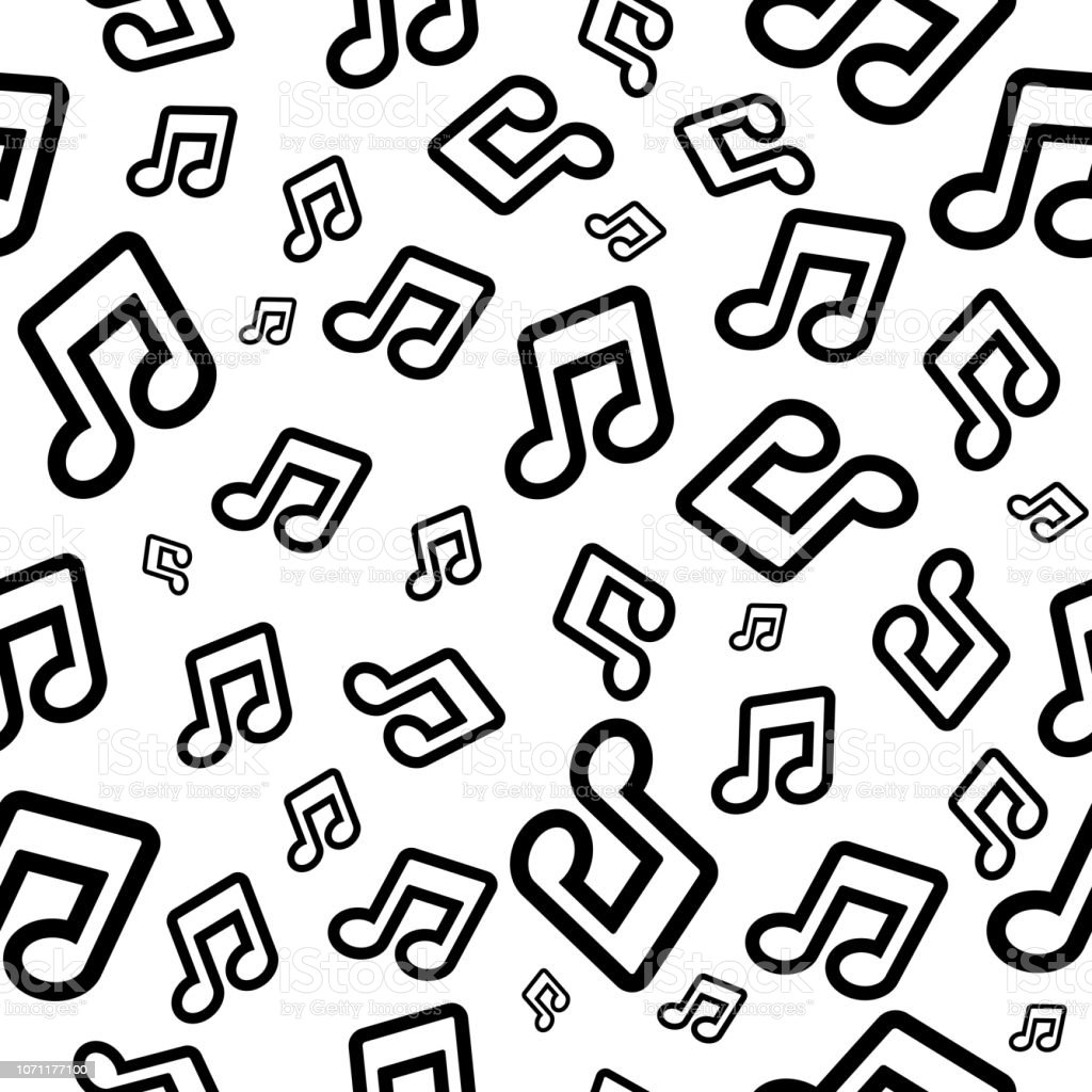 Vector Background With Musical Notes Seamless Pattern For Wallpaper Or Wrapping Paper Stock Illustration Download Image Now