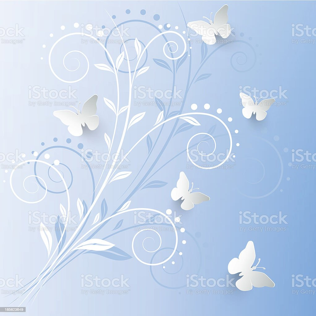Vector background with paper butterflies. royalty-free vector background with paper butterflies stock vector art & more images of abstract