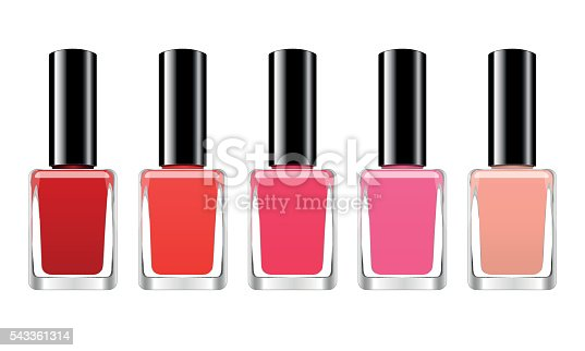Vector background with red nail polish