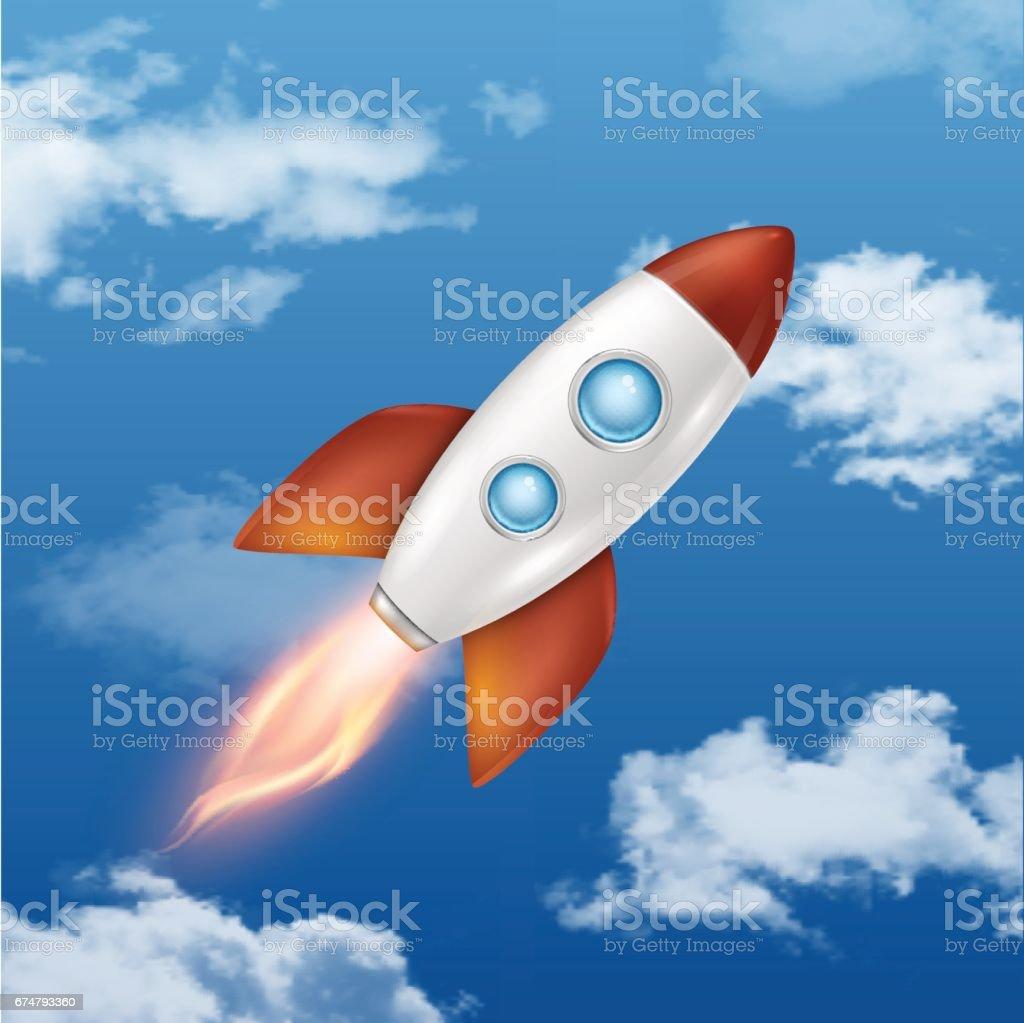 レトロ スペース ロケット打ち上げ独創的なアイデアなど開発プロセスを