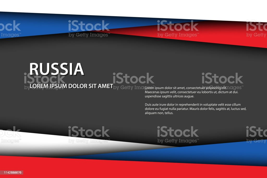 Vector o fundo com cores do russo e espaço cinzento livre para seu texto, bandeira do russo, feito em Rússia, ícone e símbolo do russo - ilustração de arte em vetor
