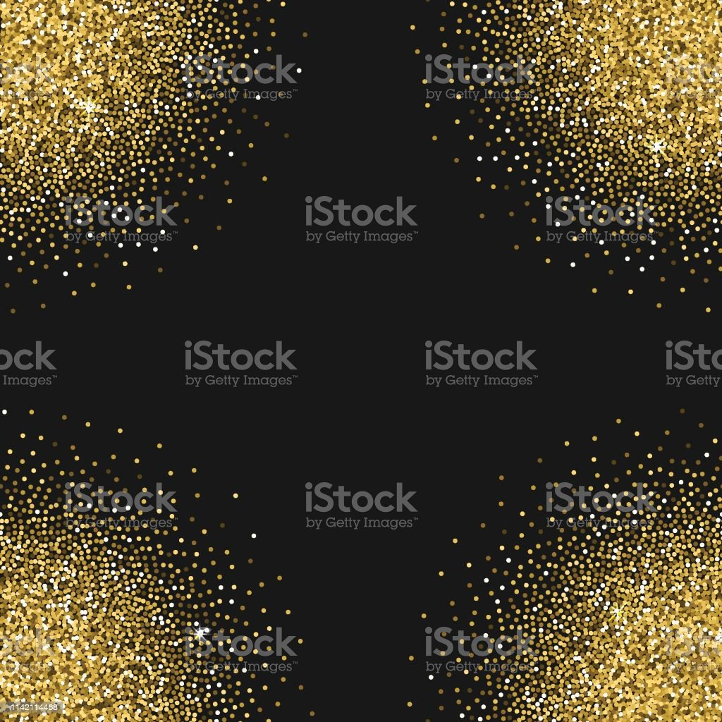 Vector background with star gold texture, glitter, sparkles, made for...