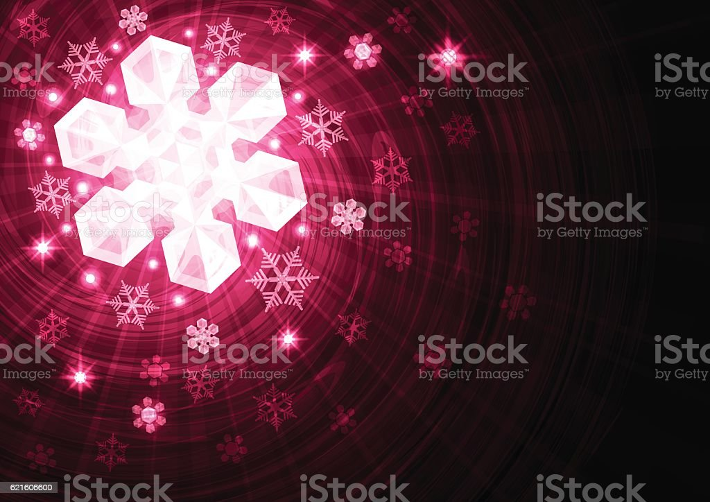 Vector background with stars and snowflakes vector art illustration