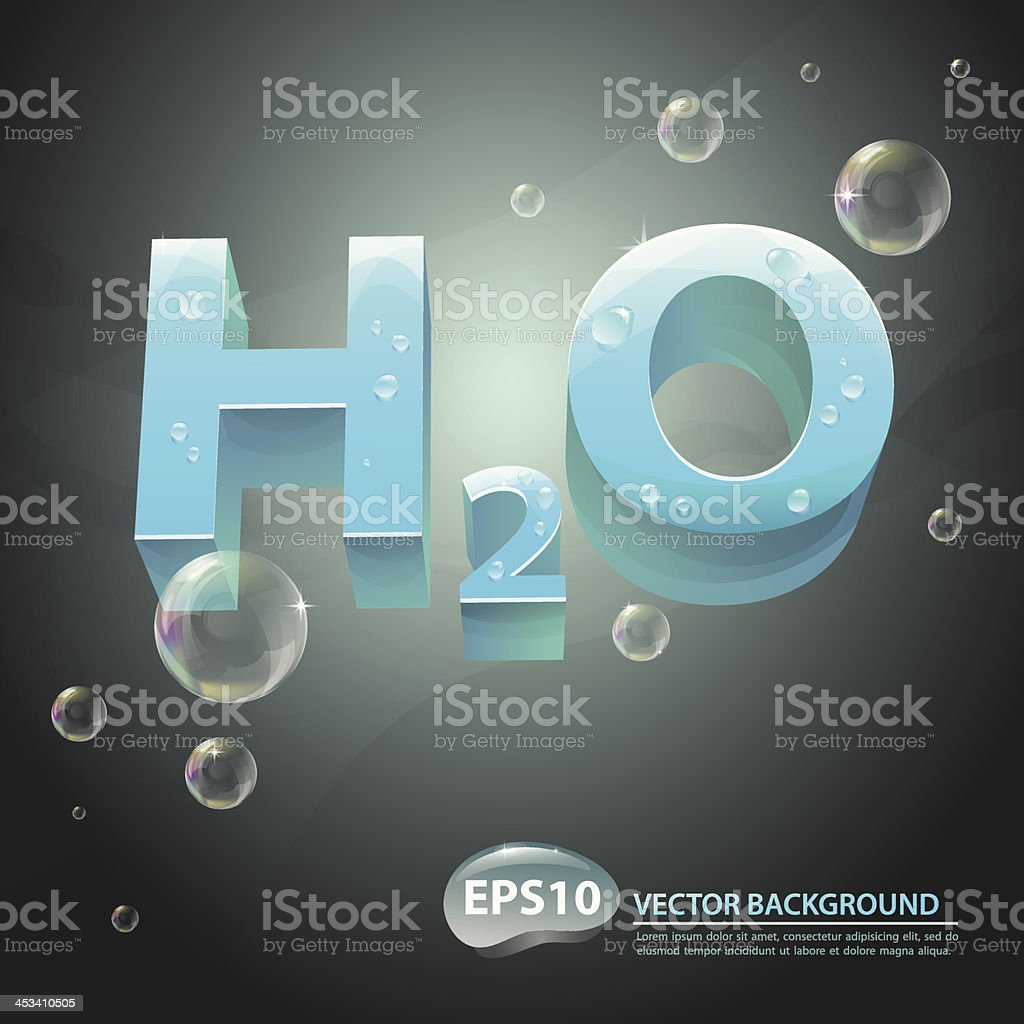 Vector background with water formula royalty-free vector background with water formula stock vector art & more images of abstract